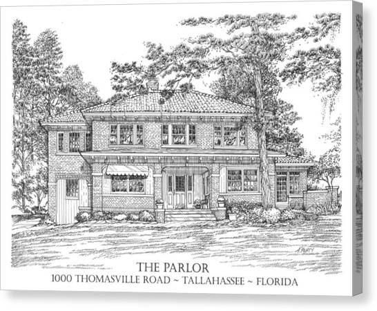 The Parlor Tallahassee Florida Canvas Print