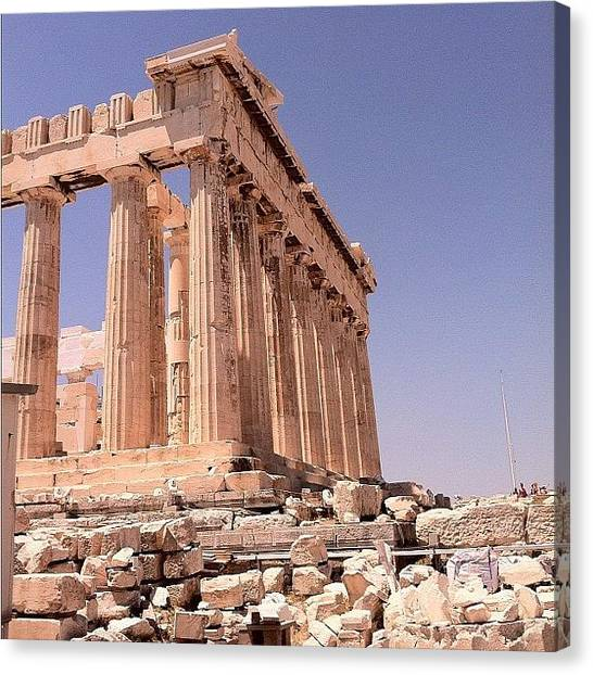 The Acropolis Canvas Print - The #parthenon At The #acropolis by Arthur S.