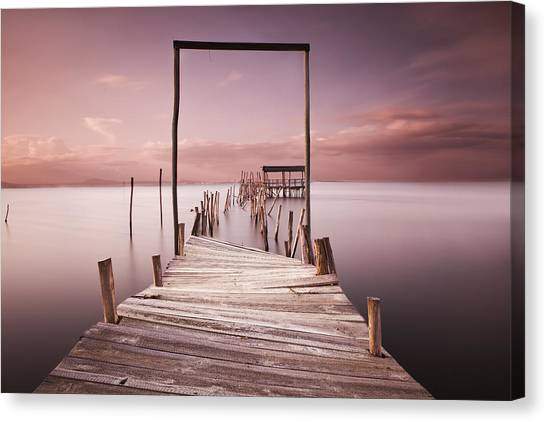 Pier Canvas Print - The Passage To Brightness by Jorge Maia