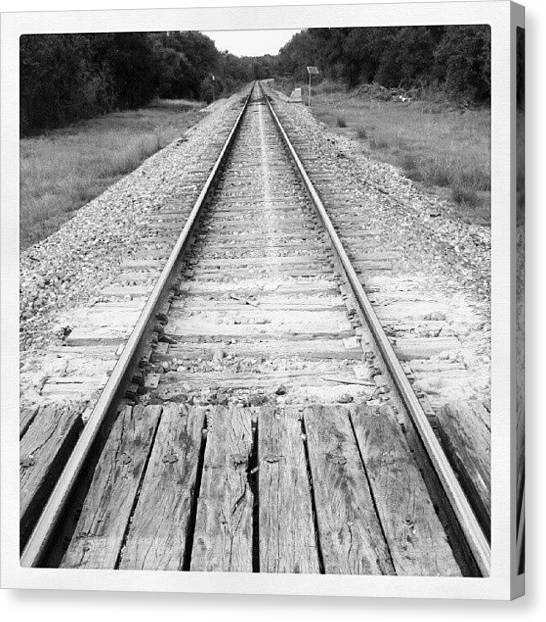 Track Canvas Print - The Path Is Set by James Granberry