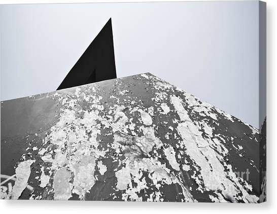 The Peeling Pyramids Canvas Print by L E Jimenez