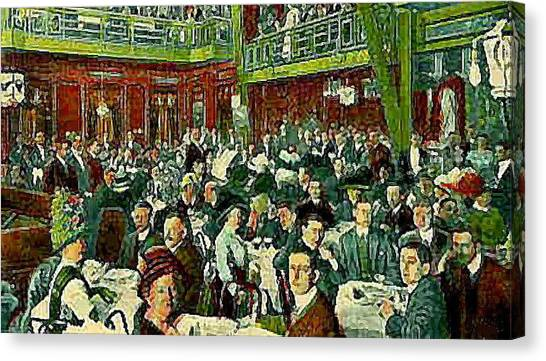 The Peking Restaurant In New York City In 1913   Canvas Print by Dwight Goss