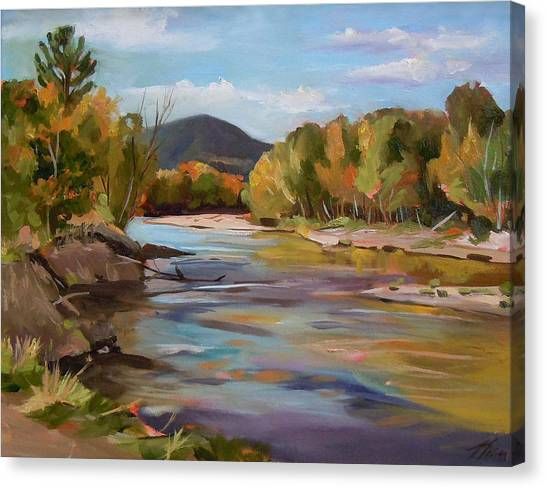 The Pemi In Autumn One Canvas Print