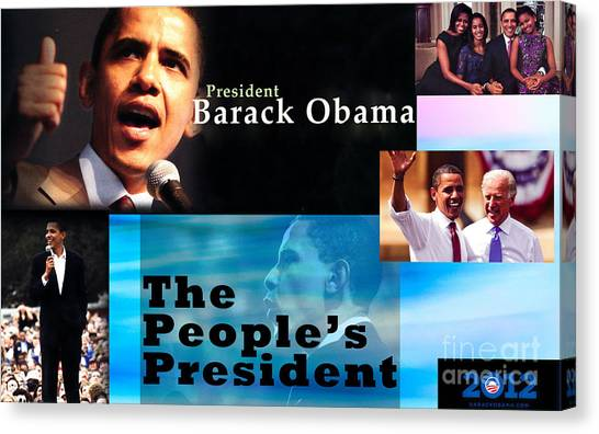 Joe Biden Canvas Print - The People's President by Terry Wallace