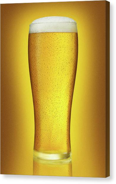 Pint Glass Canvas Print - The Perfect Pint by Jeremy Hudson