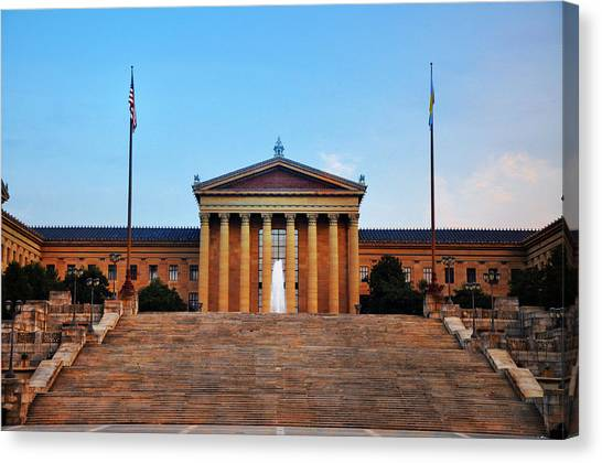 Stallone Canvas Print - The Philadelphia Museum Of Art Front View by Bill Cannon