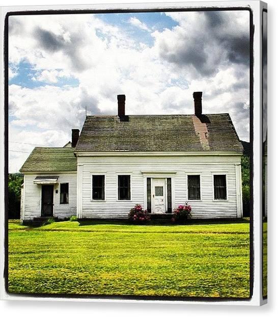 Maine Canvas Print - The Phone Booth Farm by Amity Beane