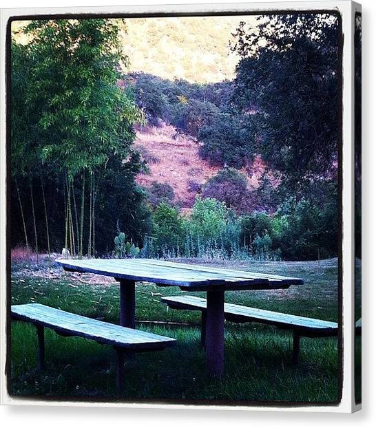 Tables Canvas Print - The Picnic Table by Nikita Shah