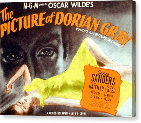 1945 Movies Canvas Print - The Picture Of Dorian Gray, 1945 by Everett