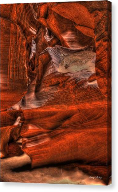 The Place Where Water Runs Through Rocks Canvas Print by Darryl Gallegos