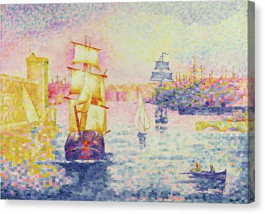 Harbours Canvas Print - The Port Of Marseilles by Henri-Edmond Cross