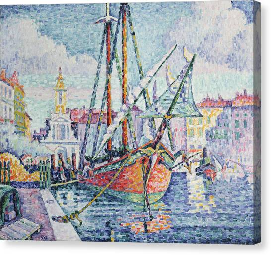 Pointillism Canvas Print - The Port by Paul Signac