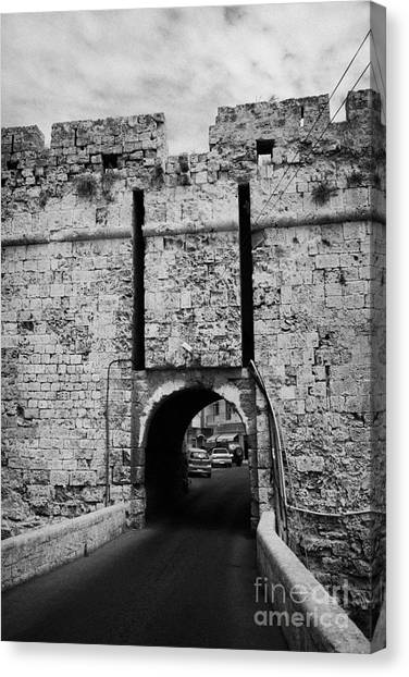 The Porta Di Limisso The Old Land Limassol Gate In The Old City Walls Famagusta Cyprus Canvas Print by Joe Fox
