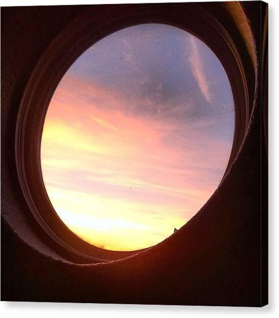 Portal Canvas Print - The Portal To Heaven. #sunset #portal by Austin Orr