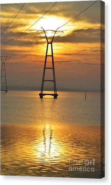 The Power Of Dawn Canvas Print by Lynda Dawson-Youngclaus