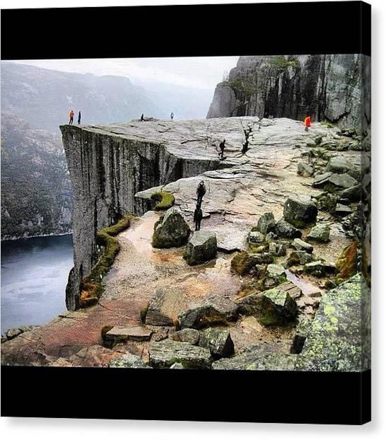 Preikestolen Canvas Print - The Pulpit Rock, Preikestolen! by Kiko Bustamante
