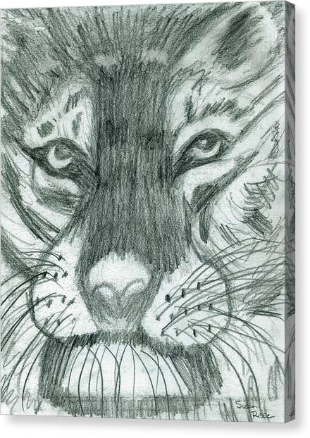 The Puma Canvas Print by Susan Risse
