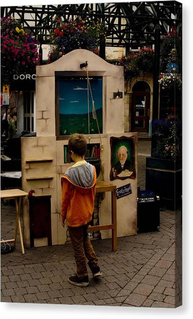 The Puppet Show Canvas Print by Peter Jenkins