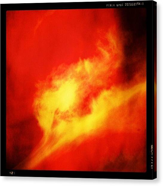 Flames Canvas Print - The #pyrograph #fire #flame #explosion by Andrei Vukolov
