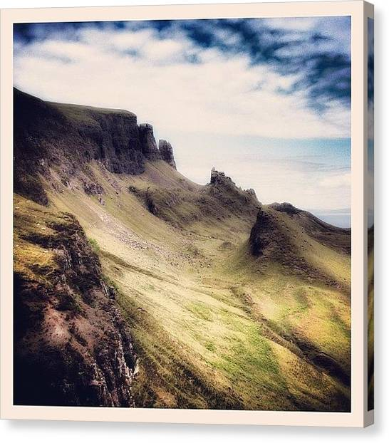 Geology Canvas Print - The Quiraing, Isle Of Skye.... A by Robert Campbell
