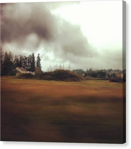 Rainclouds Canvas Print - The Rain Is Supposedly Turning To Snow by Karen Clarke
