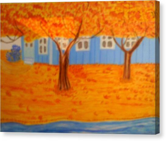 The Rays On Autumn Canvas Print by Annette Stovall