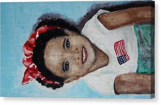 The Red Bandana Canvas Print by Lora Bradshaw