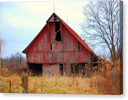 The Red Barn Canvas Print by Robin Pross