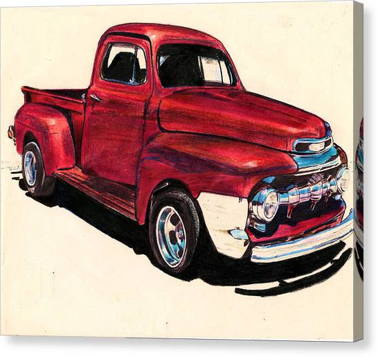 The Red Truck Canvas Print