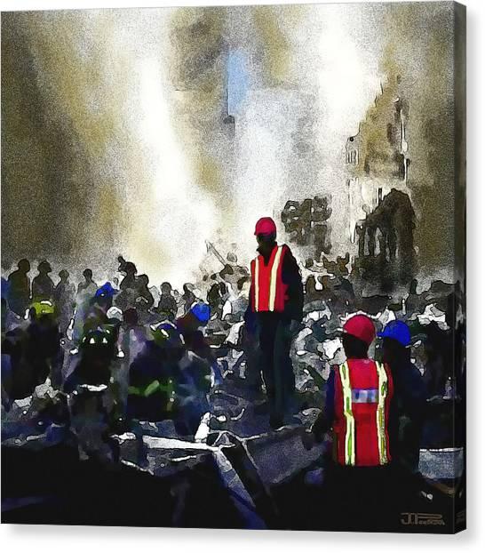 George W. Bush Canvas Print - The Rescuers by Jann Paxton