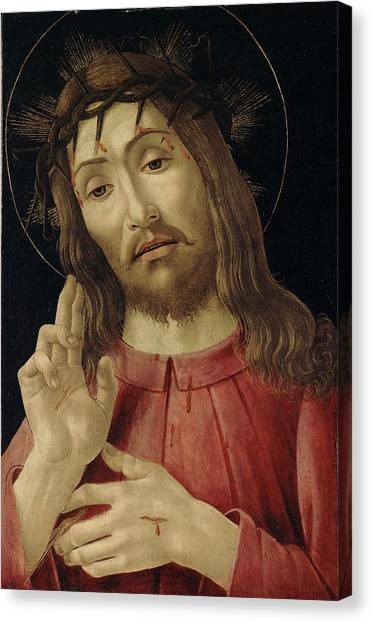 Botticelli Canvas Print - The Resurrected Christ by Sandro Botticelli