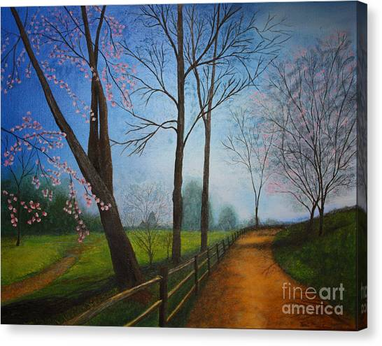 The Road Less Traveled Canvas Print by Terri Maddin-Miller
