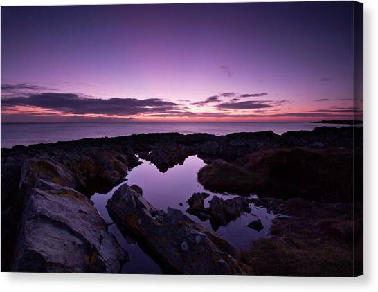 The Rock Pool At Dawn Canvas Print