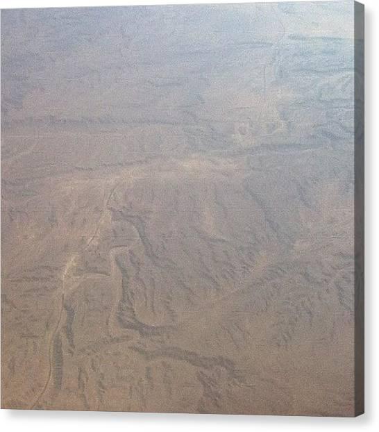 Sahara Desert Canvas Print - The Sahara From The Plane ☀ #egypt by Sean Cross