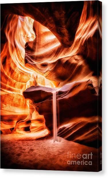 The Sandfall Canvas Print by Geoffrey Gilson