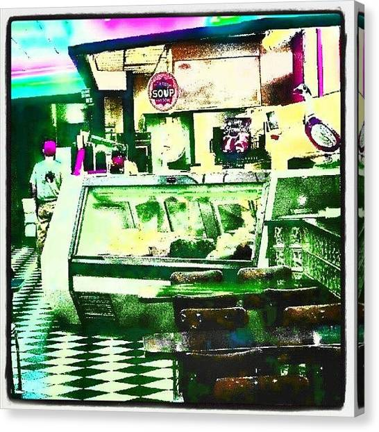 Droid Canvas Print - The Sandwich Shop #abstract #android by Marianne Dow