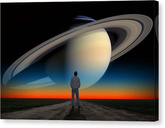 The Saturn Gaze Canvas Print