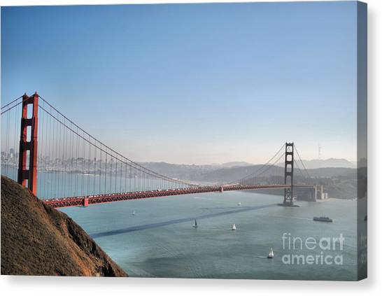 The Sausalito Side Of The Bay Canvas Print