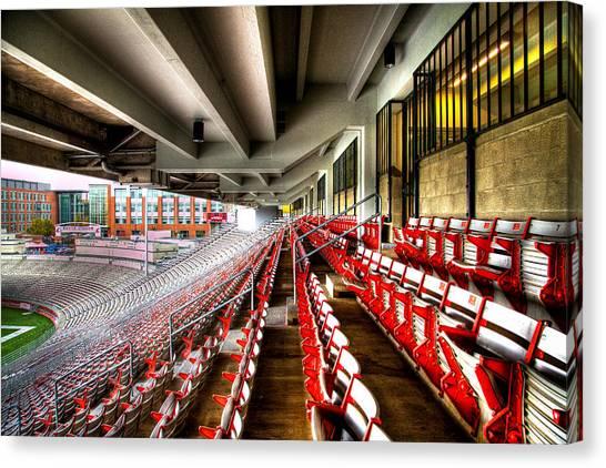 Washington State University Canvas Print - The Seats At Martin Stadium by David Patterson