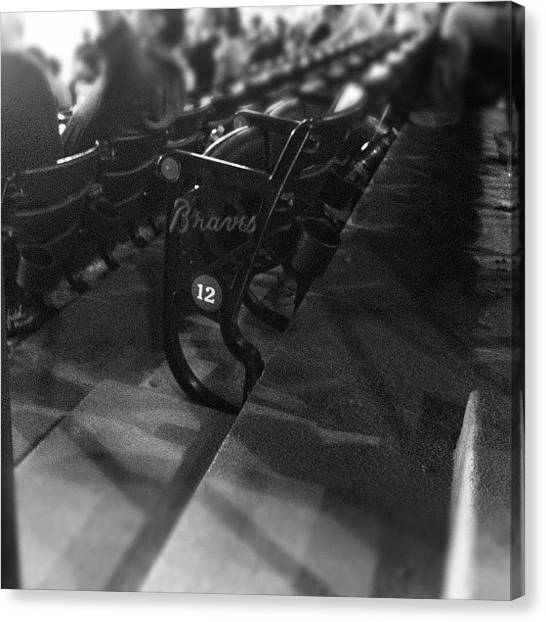 Atlanta Braves Canvas Print - The Seats by Gilberto Bernal