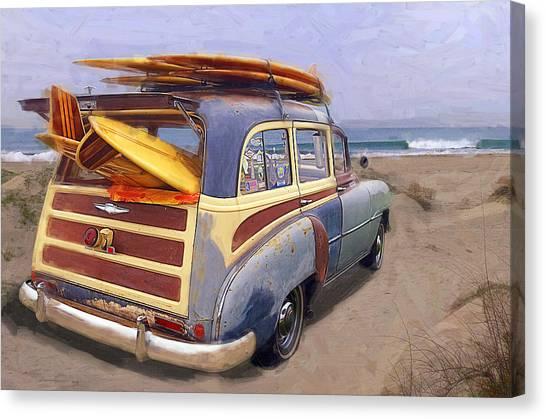 Surfing Canvas Print - The Secret Spot by Ron Regalado