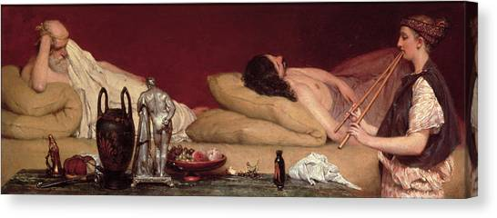 Attendant Canvas Print - The Siesta by Sir Lawrence Alma-Tadema