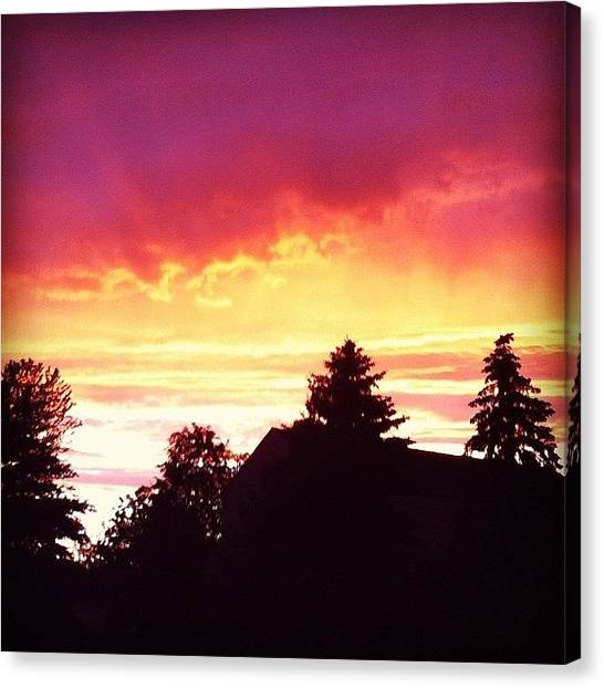 Back Canvas Print - The Sky Is A Canvas by Sara Lovelace