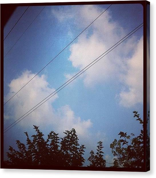 Israeli Canvas Print - The Sky Is Blue #sky #blue #road by May Pinky  ✨