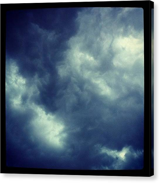 Lightning Canvas Print - The Sky Prior To The Torrential by Nikita Shah