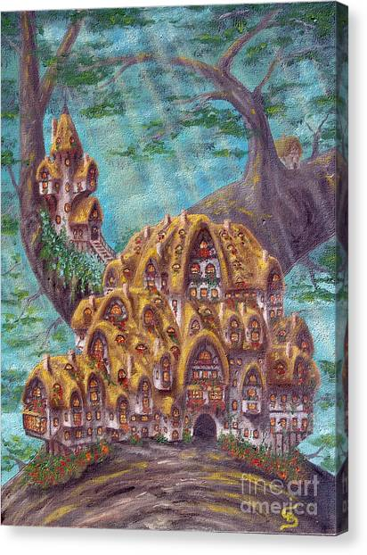 The Small Straddle House From Arboregal Canvas Print