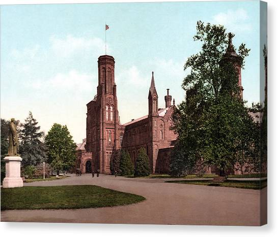 Smithsonian Institute Canvas Print - The Smithsonian Institution Castle by Everett