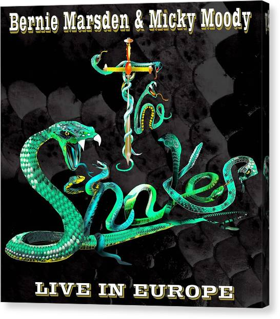 Whitesnake Canvas Print - The Snakes Live In Europe by Penny Golledge