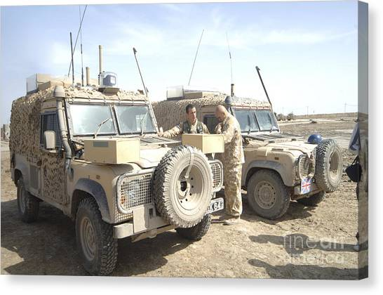 Condors Canvas Print - The Snatch Land Rover Used by Andrew Chittock