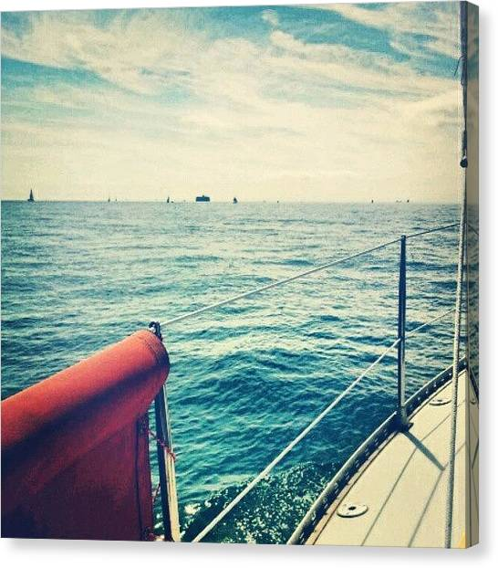 Yachts Canvas Print - The Solent by Aimee White